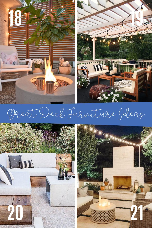 Best Deck Furniture Ideas