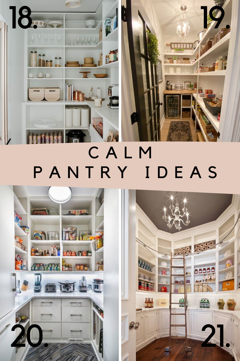 Peaceful pantry ideas