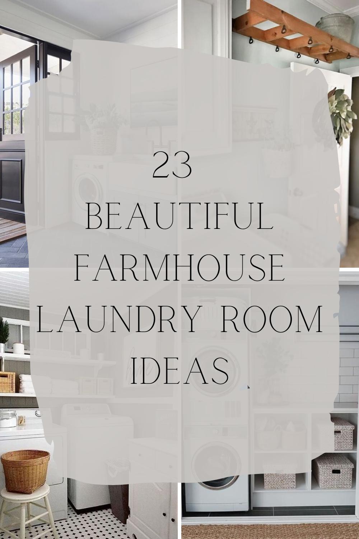 Farmhouse Laundry Room Ideas