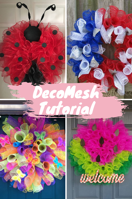 deco mesh summer wreath tutorial