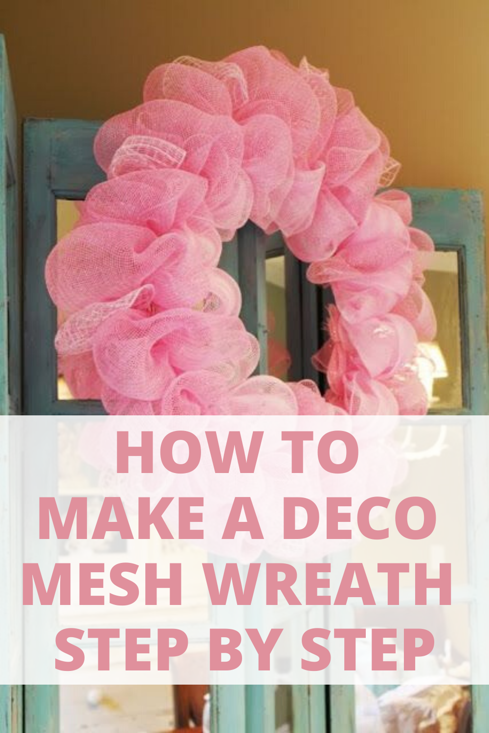 How to make a deco mesh wreath step by step