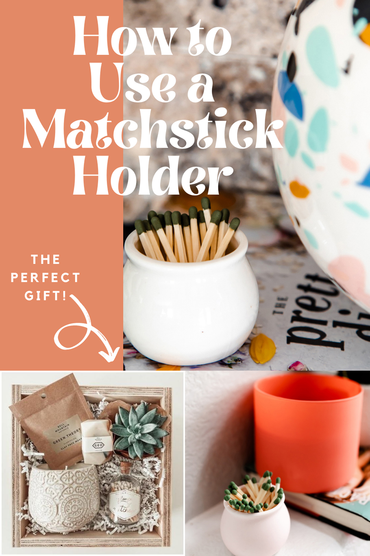 Gift Ideas + Home Decor Matchsticks